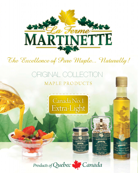 ORIGINAL COLLECTION Martinette- Quebec pure maple syrup-CANADA NO1 EXTRA-LIGHT