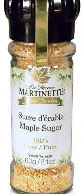 Pure maple sugar- GRINDING CAP GLASS BOTTLE 60g
