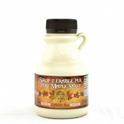 Pure maple syrup 250 ml-8.5 US Fl.oz CANADA A- Amber, Rich Taste-Maple -Jug plastic
