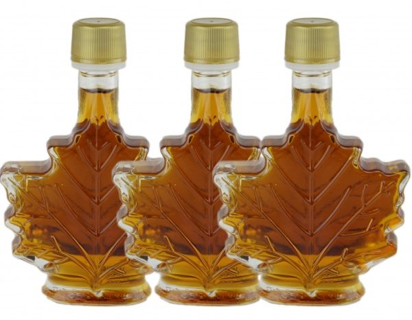 Pure maple syrup 3×50 ml CANADA A- Amber, Rich Taste-Maple leaf bottles