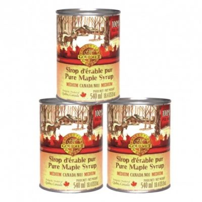 Pure maple syrup CANADA A- Amber, Rich Taste 3x540ml