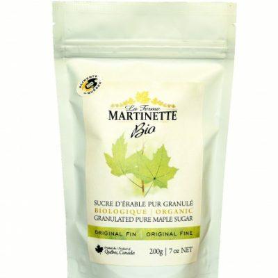 ORGANIC Pure granulated maple sugar FINE -200g Bag