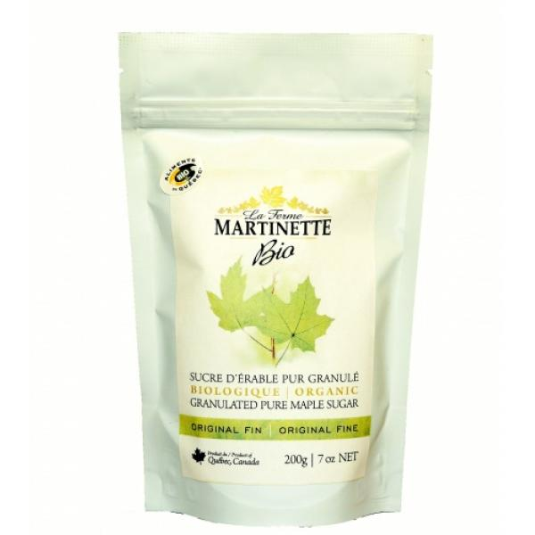 ORGANIC Pure granulated maple sugar FINE -200g Bag