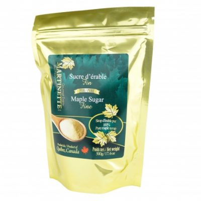 Pure granulated maple sugar 500g FINE- Bag