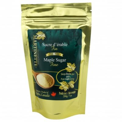 Pure maple sugar FINE 200g bag