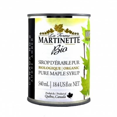 ORGANIC Pure maple syrup DARK, Robust Taste 8X540ml CANS