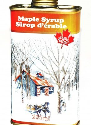 Pure maple syrup 250ml metal tin- CANADA A- DARK Robust Taste
