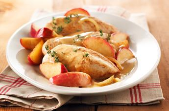 Apple Chicken with Maple and Thym