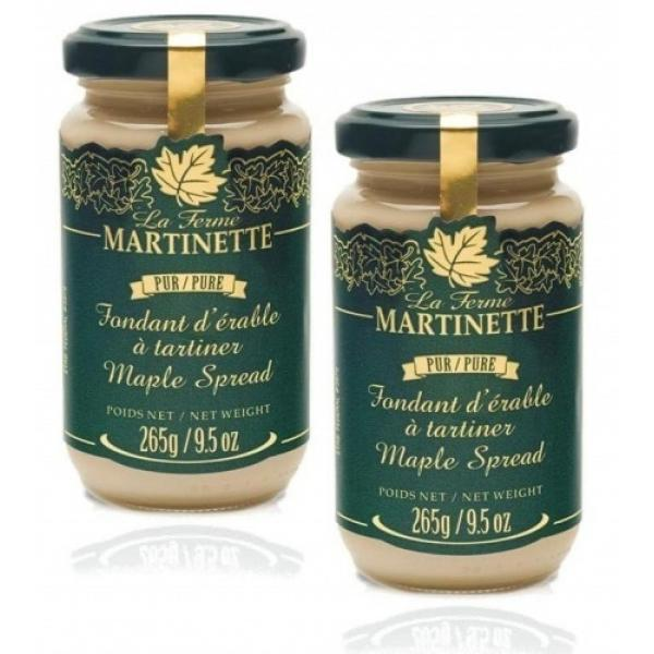 Pure Maple Spread (Pure maple butter) – 2 X 265 g/ 9.5oz  – Glass jars