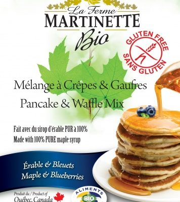 GLUTEN FREE ORGANIC Maple-Blueberry 250g Pancake & waffle mix