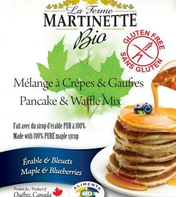 GLUTEN FREE ORGANIC Maple-Blueberry 250g Pancake & waffle mix