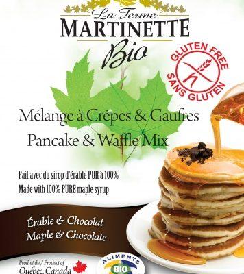 GLUTEN FREE ORGANIC Maple-Chocolate 250g Pancake & waffle mix