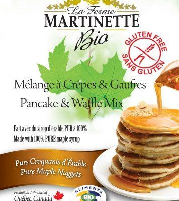 GLUTEN FREE ORGANIC Maple Nuggets 250g Pancake & waffle mix