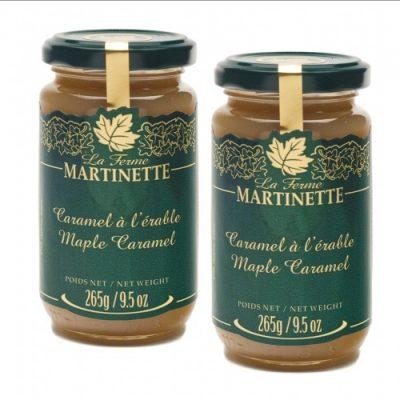 Maple Caramel – 2 Glass jars of – 9.5oz / 265 g