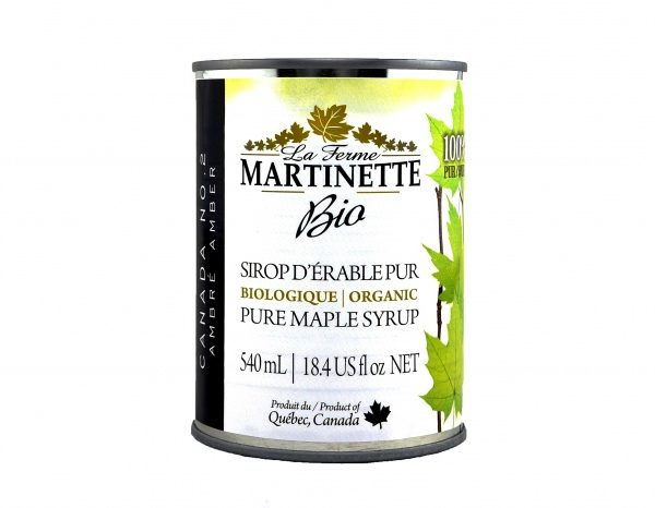 ORGANIC Pure maple syrup DARK, Robust Taste 3X540ml CANS