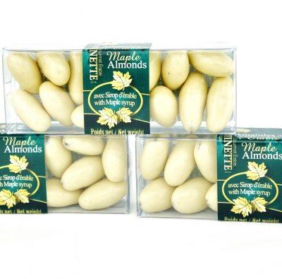 Maple Chocolate Almonds -3x55g cello boxes