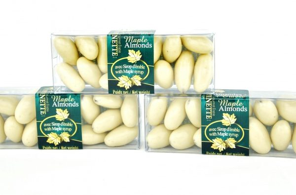 Maple Chocolate Almonds -3x55g cello boxes