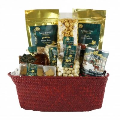 O'CANADA MAPLE TREATS Red Gift Basket