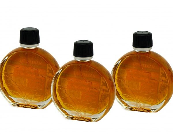 O CANADA- Pure maple syrup -Amber, Rich taste 3x50ml- Medallion leaf