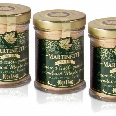 Pure granulated maple sugar FINE – 3 X 40g / 1,4 US fl oz  – Glass jars