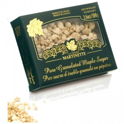 Pure granulated maple sugar NUGGETS – Box of 3.6 oz / 100g