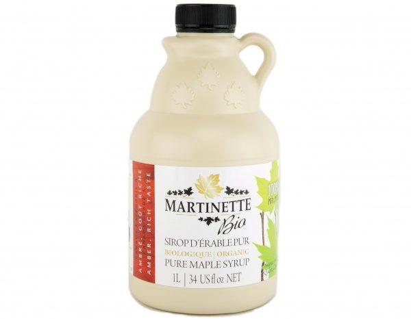 ORGANIC Pure maple syrup AMBER, RICHE TASTE 1L/34 US fl oz