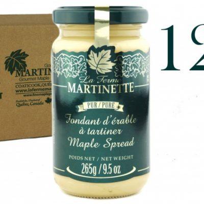 Pure Maple Spread (Pure maple butter) -12 X 265 g/ 9.5oz  – Glass jars