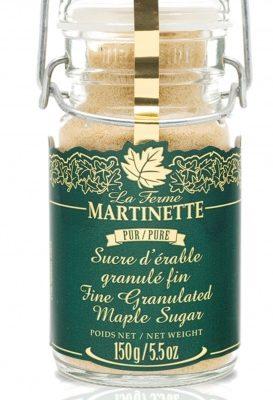 Pure granulated maple sugar FINE – 6 oz / 150 g Snap-lid jar