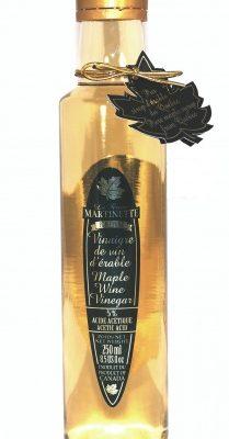 Pure Maple Wine Vinegar  -Glass bottle 250 ml-8.5 US Fl.oz
