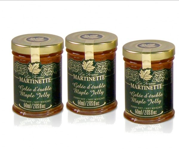 Maple jelly 3 x 60 ml – Glass jars