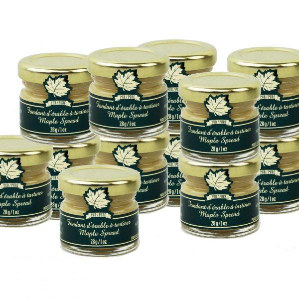 Pure Maple Spread – 12 x 28g/1oz – Mignons Glass jars