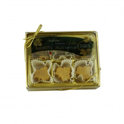 Pure maple soft sweets – box of 6 pieces (1.5 oz/40 g) Maple leaf shape