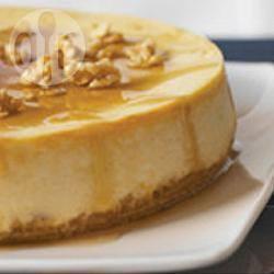 Gâteau au fromage de la cabane à sucre à l'érable et aux noix de Grenoble