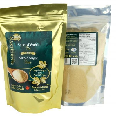 Pure granulated maple sugar 500g FINE- Bag