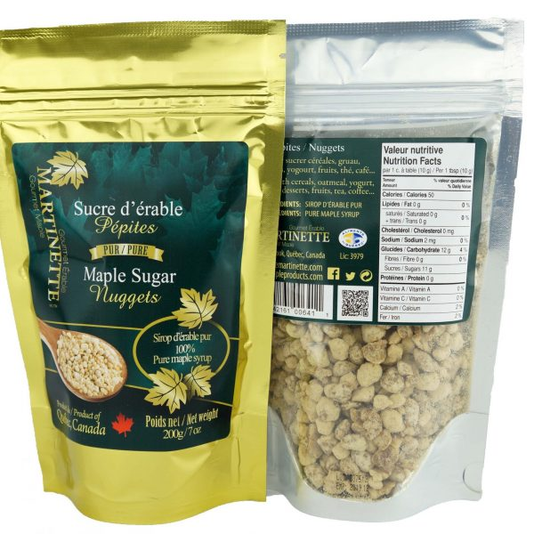Pure maple sugar- Nuggets 200g Bag