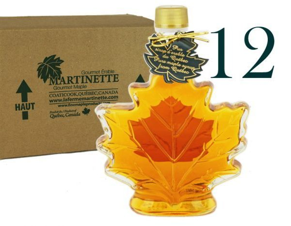 Pure maple syrup CANADA A- Golden, Delicate Taste 12x250ml -Maple leaf