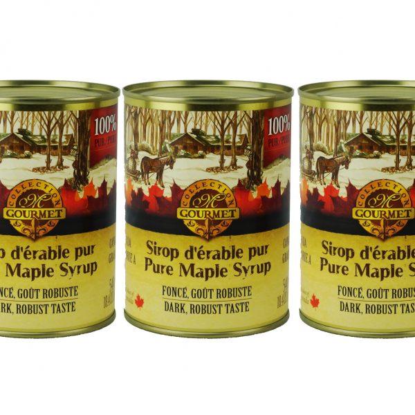 Pure maple syrup CANADA A- DARK, Robust Taste 3x540ml