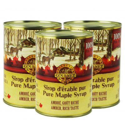 Pure maple syrup CANADA A- Amber, Rich Taste 3x540ml