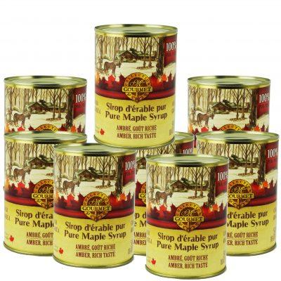 Pure maple syrup CANADA A- Amber, Rich Taste 8x540ml