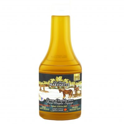 Pure maple syrup 500 ml – Golden, Delicate Taste – Squeezable Bottle