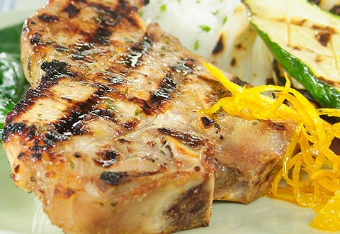 Maple and Orange Grilled Milk-Fed Veal Chops