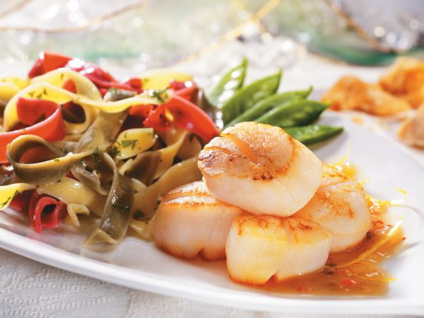 Scallops with Lemon and Maple Syrup Dressing