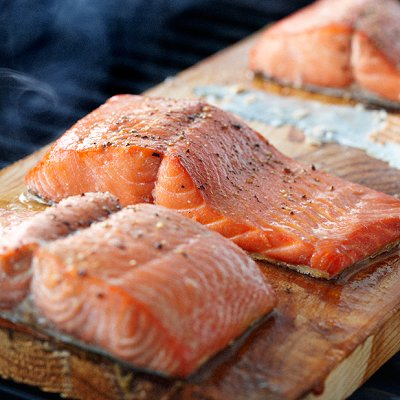 Maple Cedar-plank salmon