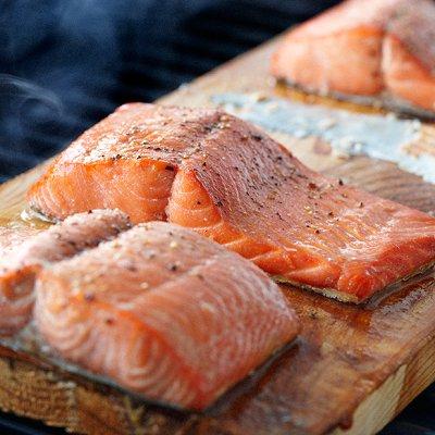 Maple Cedar-plank salmon