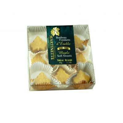 Pure maple soft sweets – box of 9 pieces (2.3 oz / 65 g) Maple leaf shape