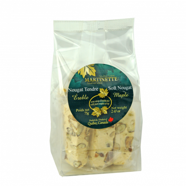 Maple Soft Nougat 75g- pieces in bag