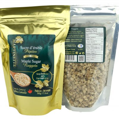 Pure maple sugar- Nuggets 500g Bag