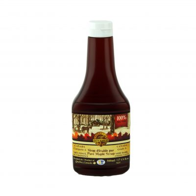 Pure maple syrup 500ml-Very Dark, Strong Taste – Squeezable bottle