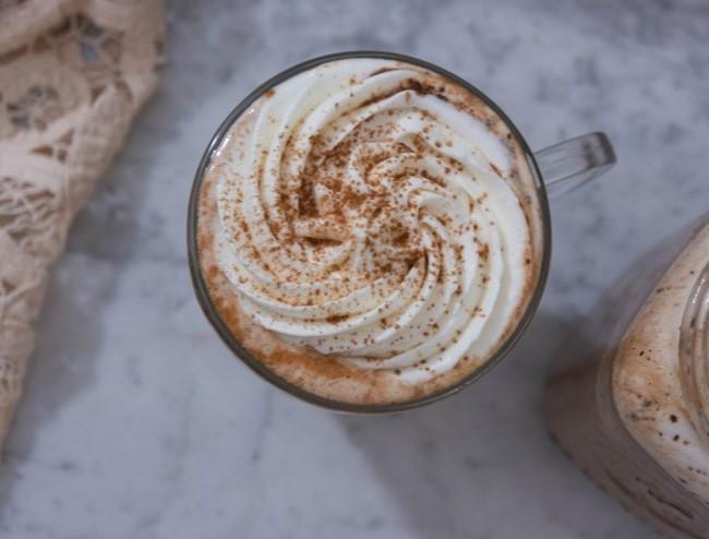 Irish Coffee with Maple Syrup