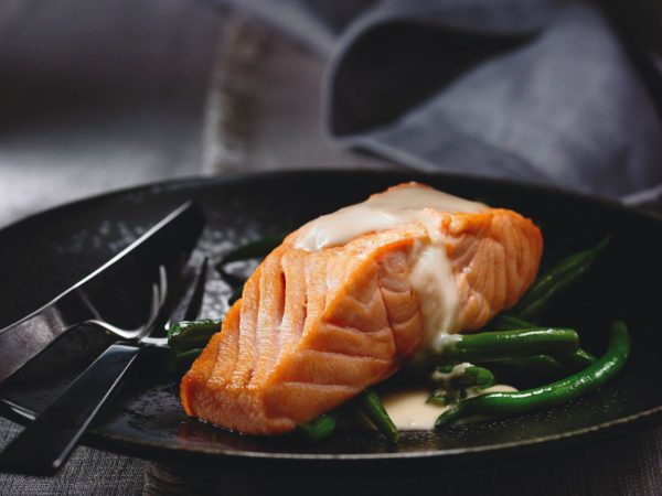 Maple and Ginger Buttered Salmon